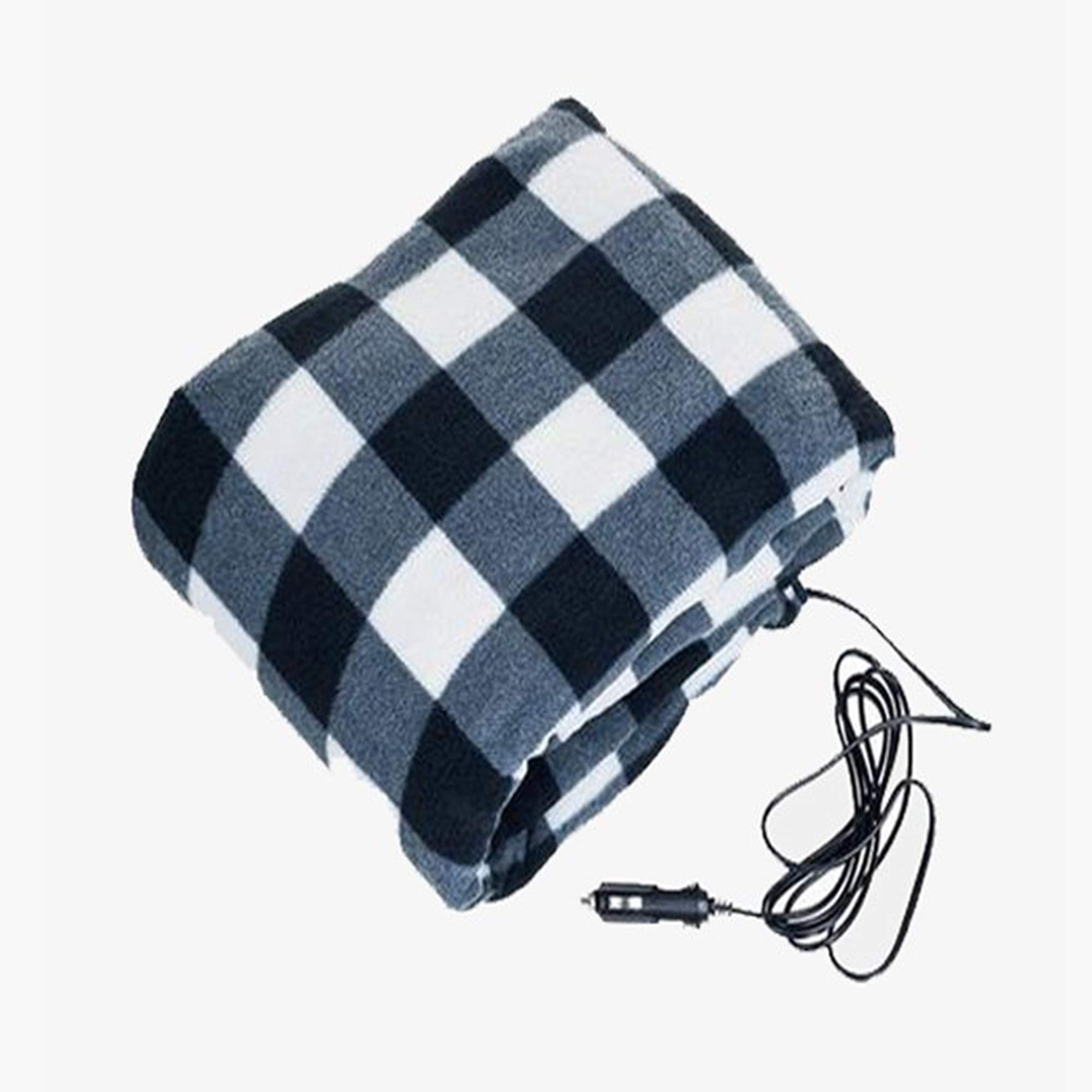 Electric Heating Blanket for Vehicles 12 Volt Travel Throw for Car|Winter Hot Car Constant Temperature Heating Blanket for Travel Camping Picnic (Plaid) by FreeShip Deals