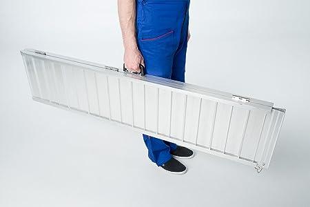Fabbricante Worhan GmbH WORHAN RAMPA Antisdrucciolo CARICO A Valigia in Alluminio Max 272 kg per Sedia A ROTELLE Grande Selezione 244cm R8J