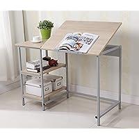EBS My Furniture Table à Dessin Poste Bureau de Travail - Tableau Réglable