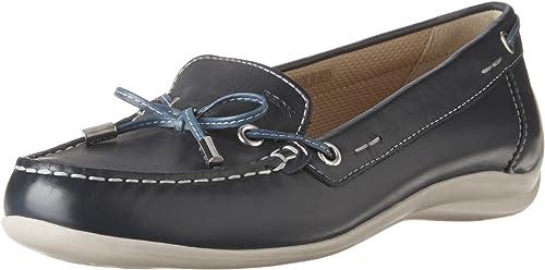 GEOX SCHWARZE Schuhe Mokkasin Leder 41 (7,5) EUR