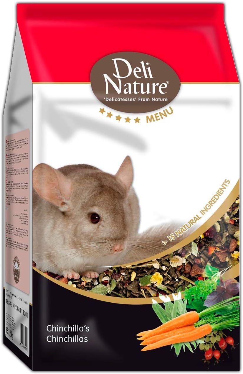 DELINATURE Mixtura para Chinchillas, Menú 5*, Delinature, 2,5 kg, Pequeños Mamíferos