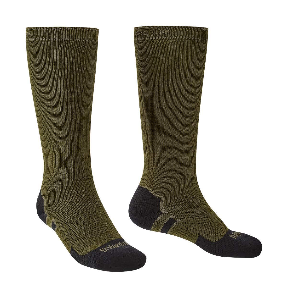 Bridgedale StormSock Heavyweight Knee Length Waterproof Sock, Olive/Black, M by Bridgedale