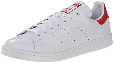 adidas Men's Originals Stan Smith Sneaker, White/White/Collegiate Red, ...
