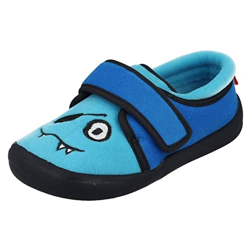 c539b6035792 Clarks Cuba Rise Boys Infant Slippers 9 Std Unless Stated in Colour Blue
