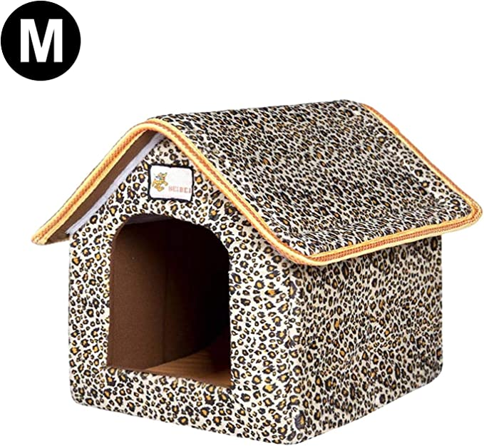 S-XL Outdoor Waterproof Pets Cat House Winter Warm Foldable Non-Slip Outdoor Pet Kennel ZQYX Safe Waterproof Warm Stray Cats Shelter Thickened Pet Nest Foldable Cat Dog Tent