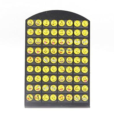 baaf20394 Amazon.com: YEYULIN Round Yellow Resin Emoji Stud Earrings Girl 36 pairs  Jewelry: Jewelry
