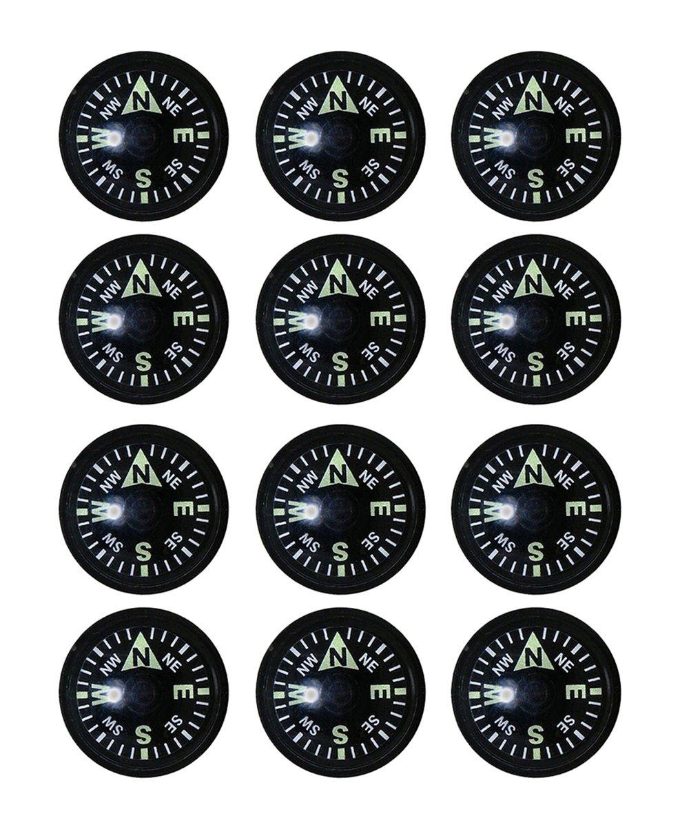 Sun Companyコンパスカプセル – パックof 12 Compasses |異なるサイズ、等級使用可能 B076TKBYY8   18mm Grade A