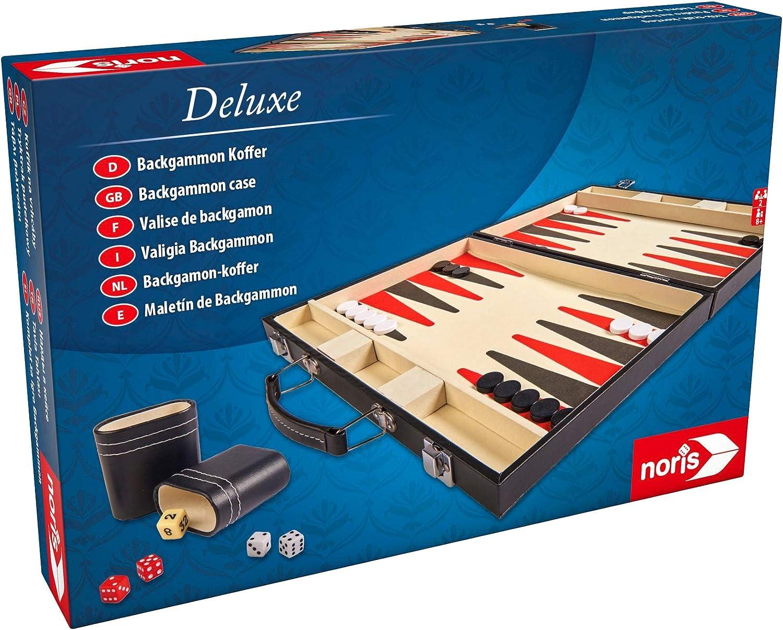 noris Deluxe Reisespiel BackgammonSpiel für unterwegsBrettspiel magnetisch
