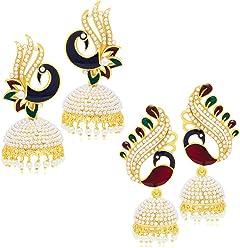 Sukkhi Jhumki Earrings for Women (Golden) (326CB1100)