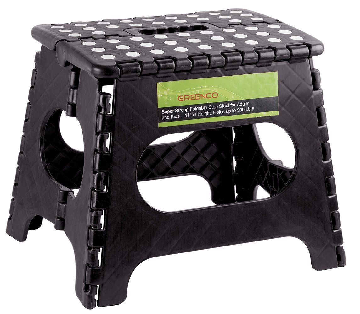 Amazon.com Greenco Super Strong Foldable Step Stool for Adults and Kids 11  Black Home u0026 Kitchen  sc 1 st  Amazon.com & Amazon.com: Greenco Super Strong Foldable Step Stool for Adults ... islam-shia.org