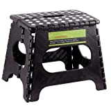 """Amazon Price History for:Greenco Super Strong Foldable Step Stool for Adults and Kids, 11"""", Black"""