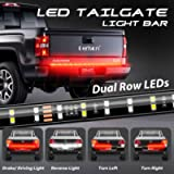 DERLSON LED Truck Tail Light, 60inch 2-Row Waterproof LED Truck Tailgate Light Bar Strip with Red White Color for Pickup…
