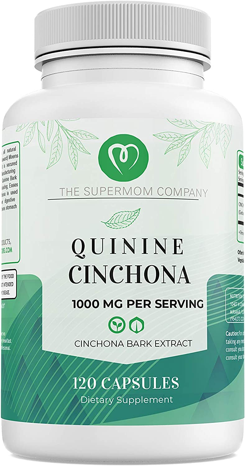 Quinine Cinchona Bark Extract Herbal Supplement for Boosting Immune System, Leg Cramping Relief, Muscle Cramps and Overall Digestive Health - All-Natural 500 mg Per Capsule - 120 (120 Count)