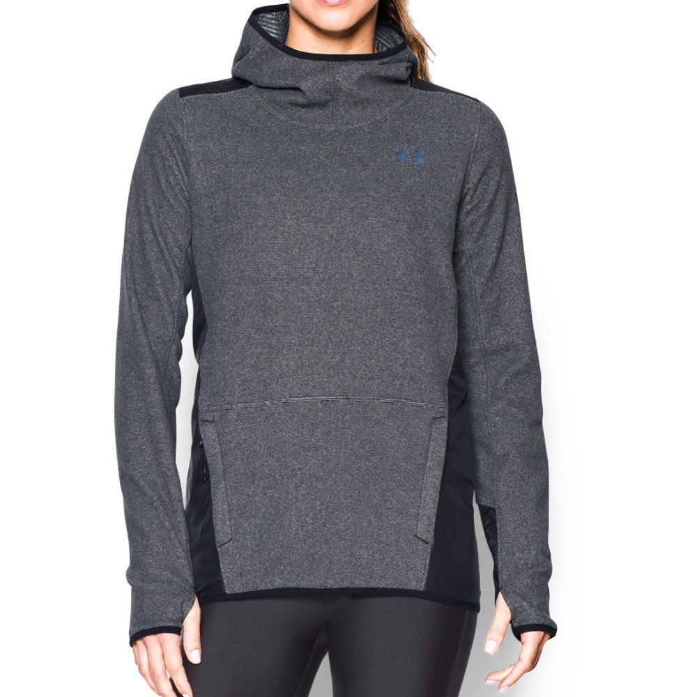 Under Armour Women's ColdGear Infrared Popover Hoodie, Black/Black, Small
