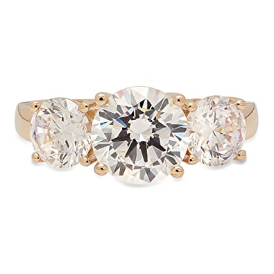 Other Fine Jewelry Sets 14k Yellow Gold Solitaire Design Round Stone Engagement Mounting Promise Ring Consumers First