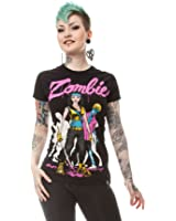 Cupcake Cult Zarbie T-Shirt Ladies Black Goth Emo Official License