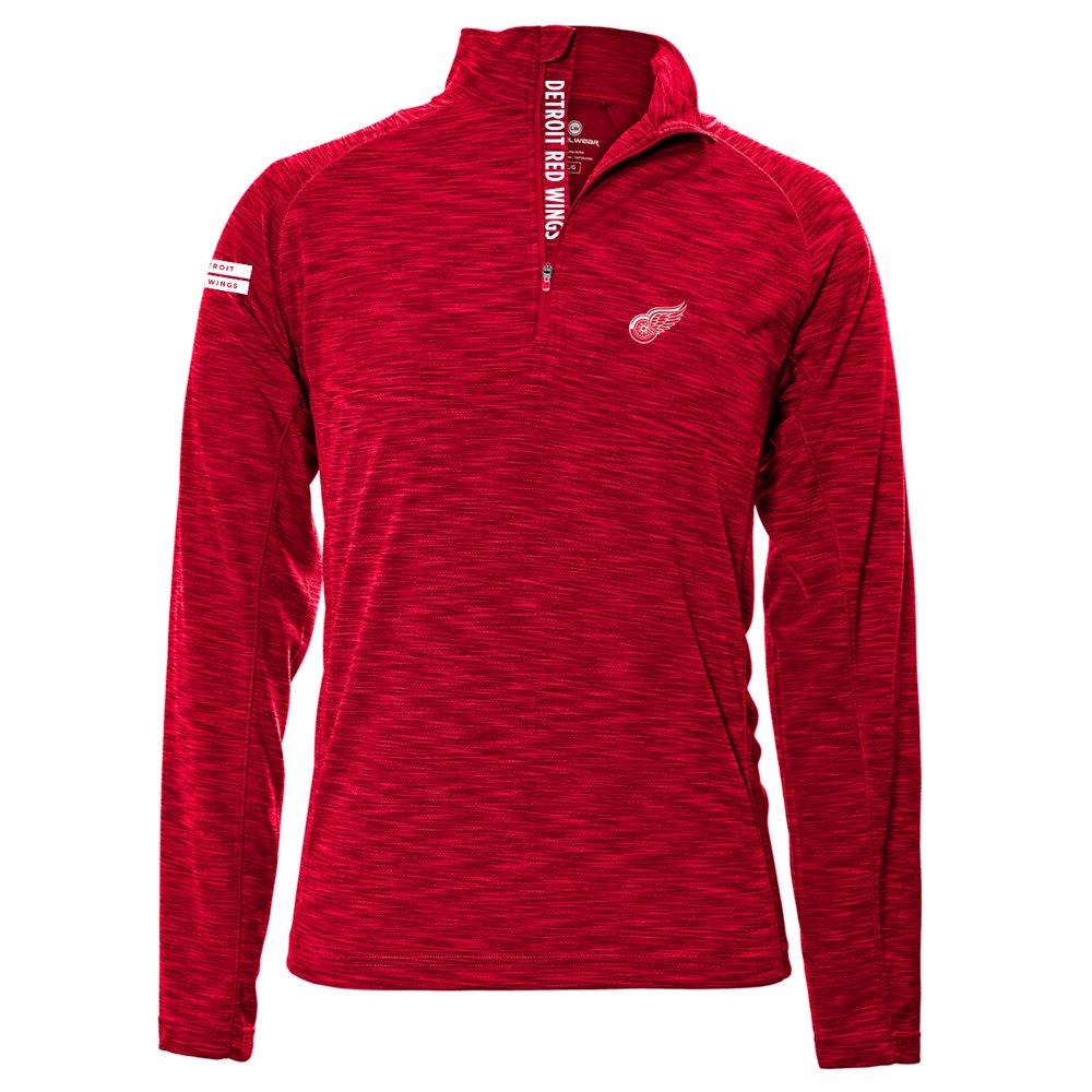 Levelwear LEY9R NHL(ナショナルホッケーリーグ)動きやすいインシグニアストロングスタイル クオータージップ ミットレイヤー B074PKGHLD Large|レッド(Flame Red)|Detroit Red Wings レッド(Flame Red) Large