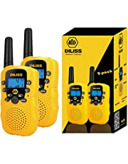 DILISS Walkie Talkies for Kids Voice Activated Walkie Talkies for Adults and Kids 3 Mile Range 2 Way Radio Walkie Talkies Built in Flash Light 2 Pack - Yellow