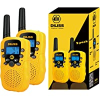 DILISS Walkie Talkies for Kids Voice Activated Walkie Talkies for Adults and Kids 3 Mile Range 2 Way Radio Walkie Talkies Built in Flash Light 2 Pack (Yellow)