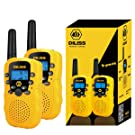 DILISS Walkie Talkies for Kids Voice Activated Walkie Talkies for Adults and Kids 3 Mile Range 2 Way Radio Walkie Talkies Built in Flash Light (Yellow,2 Pack)