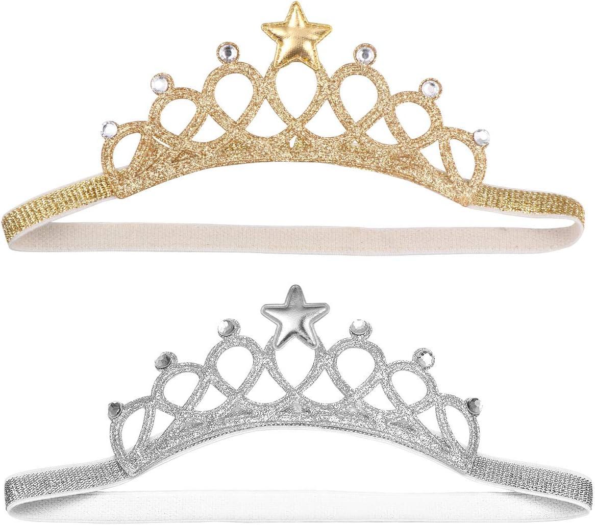 Beaupretty Baby Girl Crown Tiara Headband Head Wrap Princess Tiara Hair Band