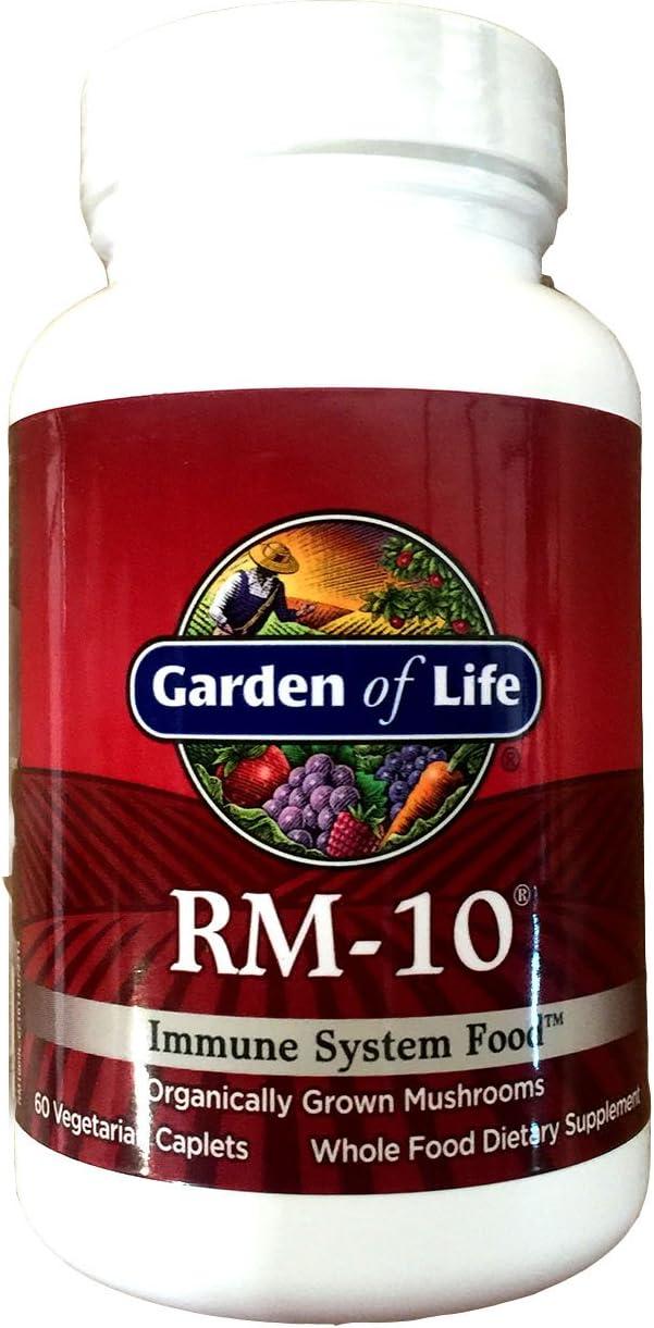 Garden of Life Organic Fermented Mushroom Complex - RM-10 Immune System Supplement with Selenium, Vegetarian, 60 Caplets