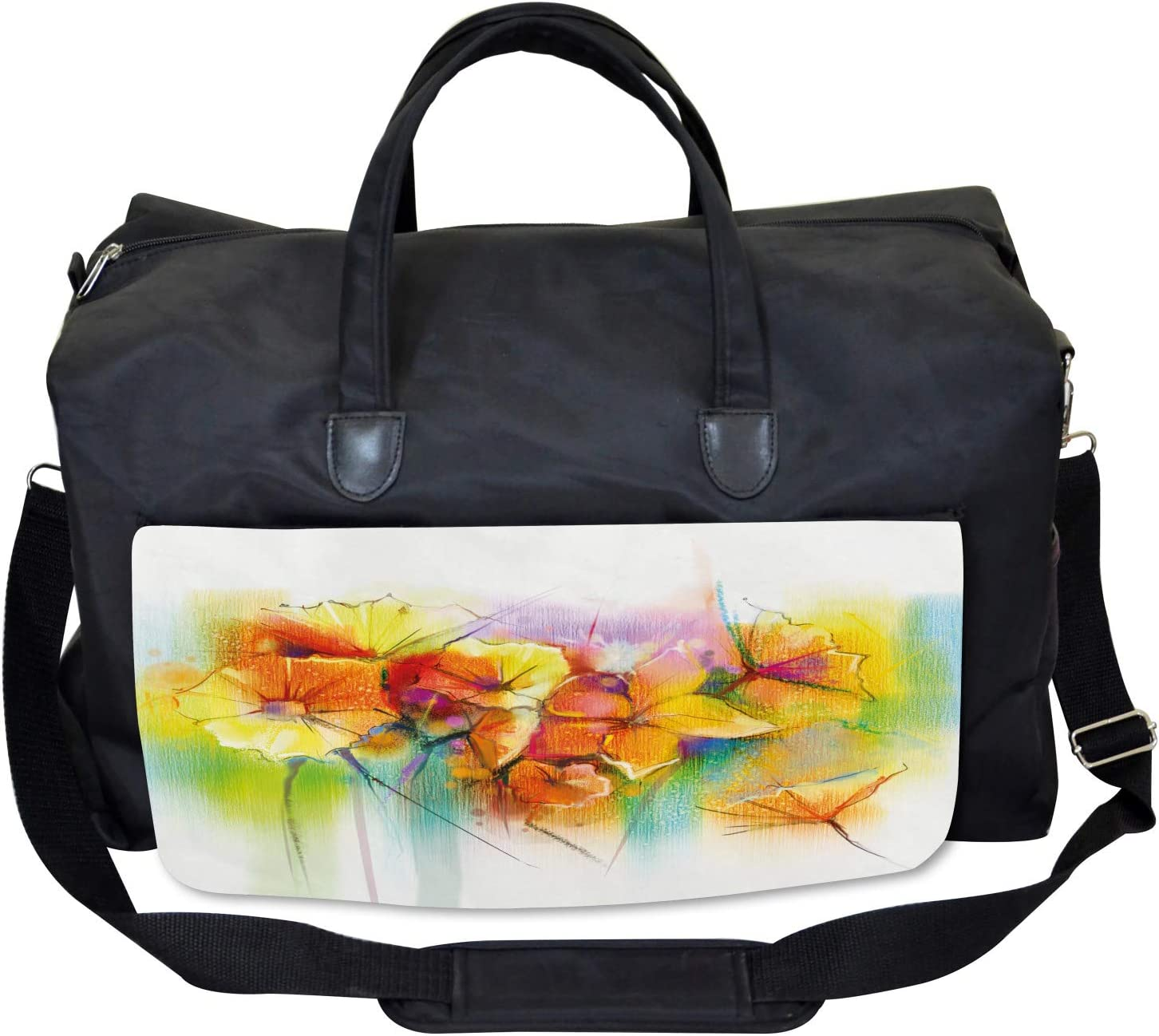Autumn Flower Bouquet Ambesonne Floral Gym Bag Large Weekender Carry-on