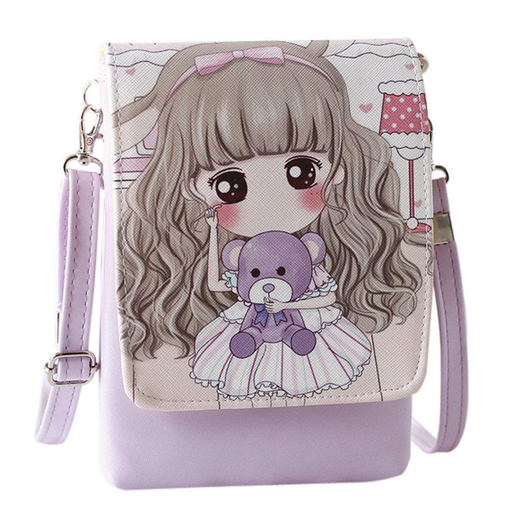 Clearance! Shoulder Bags Women'sCartoon Handbags Kids Girls Princess Cute Mini Crossbody Bag Rucksack