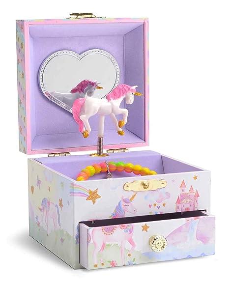 5fb0c5ca80ac JewelKeeper - Caja Joyero Musical con Unicornio Arco Iris y Estrellas de  Lentejuelas