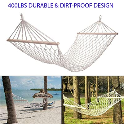 Moonrish 400Lbs Durable and Dirt-Proof Design Hammock Chair Swing Hanging Rope Seat Net Chair Tree Outdoor Porch Hammock Seat Perfect to Hang On Porch Or Branch: Sports & Outdoors