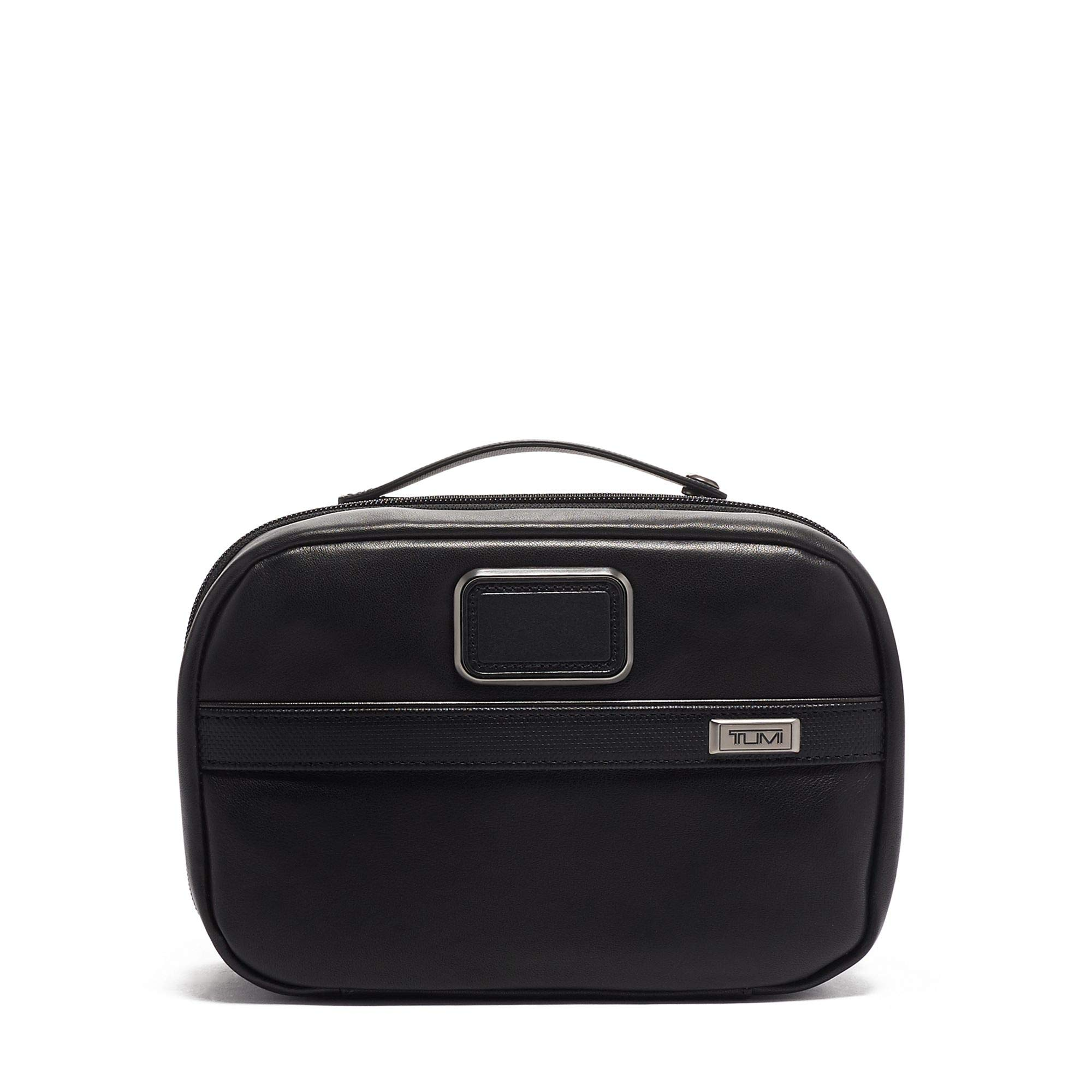 TUMI - Alpha 3 Leather Split Travel Kit - Luggage Accessories Toiletry Bag for Men and Women - Black