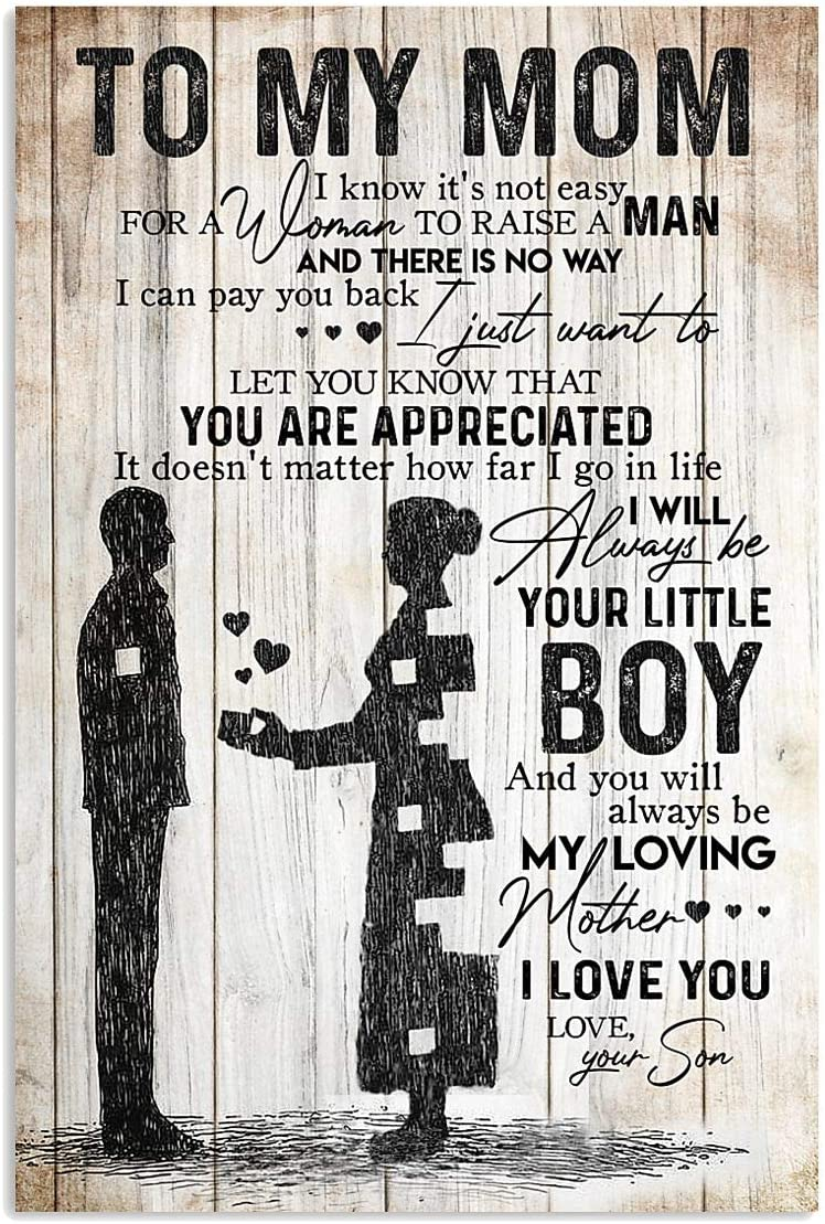 To My Daughter In Law You/'re The Love Of His Life Landscape Poster No Frame