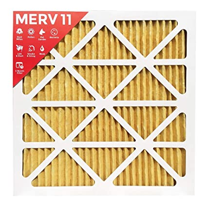 24x24x1 merv 11 ( mpr 1000 ) pleated ac furnace air filter - 6 pack ...