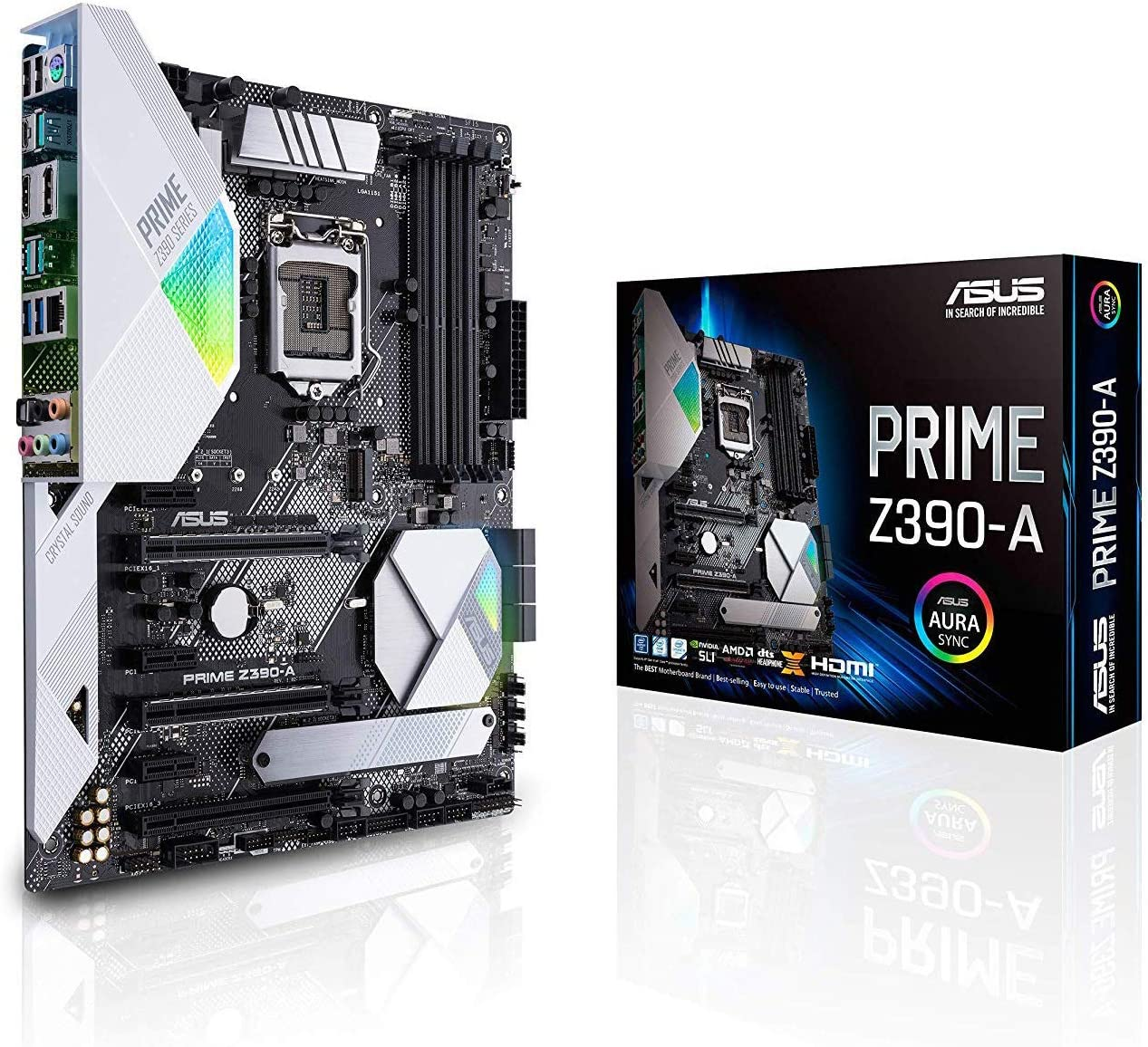 Amazon Com Asus Prime Z390 A Motherboard Lga1151 Intel 8th And 9th Gen Atx Ddr4 Dp Hdmi M 2 Usb 3 1 Gen2 Gigabit Lan Computers Accessories