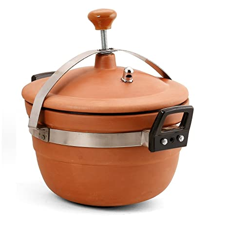 Mitti Magic Clay Cooker 3 ltr Clay For Cooking Glassware & Drinkware at amazon