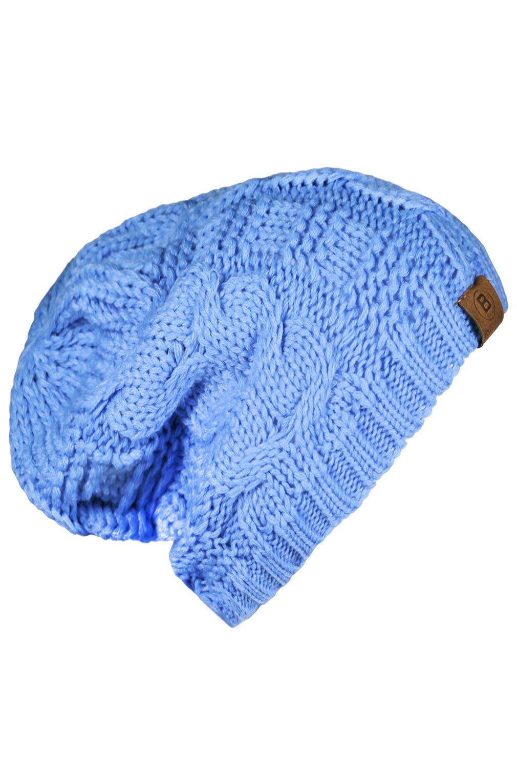 Basico Unisex Warm Chunky Soft Stretch Cable Knit Beanie Cap Hat (Baby Blue-102)