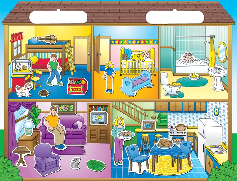 Create-A-Scene Magnetic Playset - Dollhouse by PlayMonster