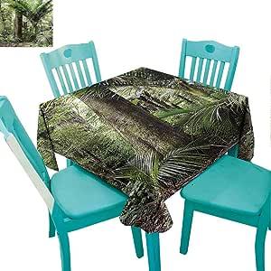 Amazon.com: Zara Henry Forest Rectangular Tablecloths Lush ...