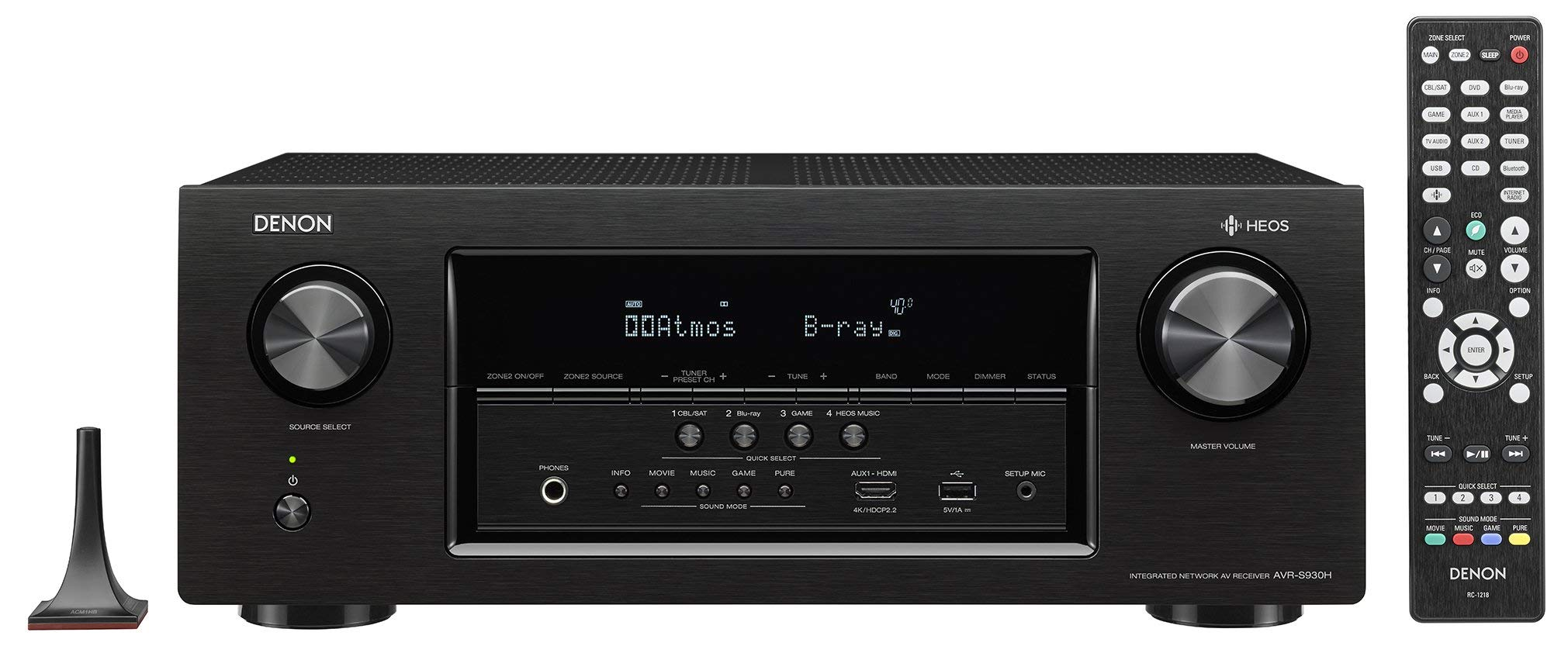 Denon AVRS930H 7.2 Channel AV Receiver with Built-in HEOS wireless technology, Works with Alexa (Renewed)