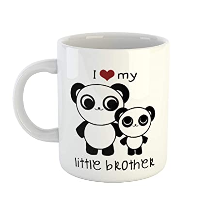 Buy Ikraft I Love My Little Brother Quotes Printed Coffee Mug Gift