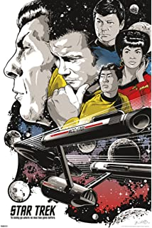 Pyramid America Star Trek To Boldly Go 50th Anniversary TV Show Poster 24x36 Inch