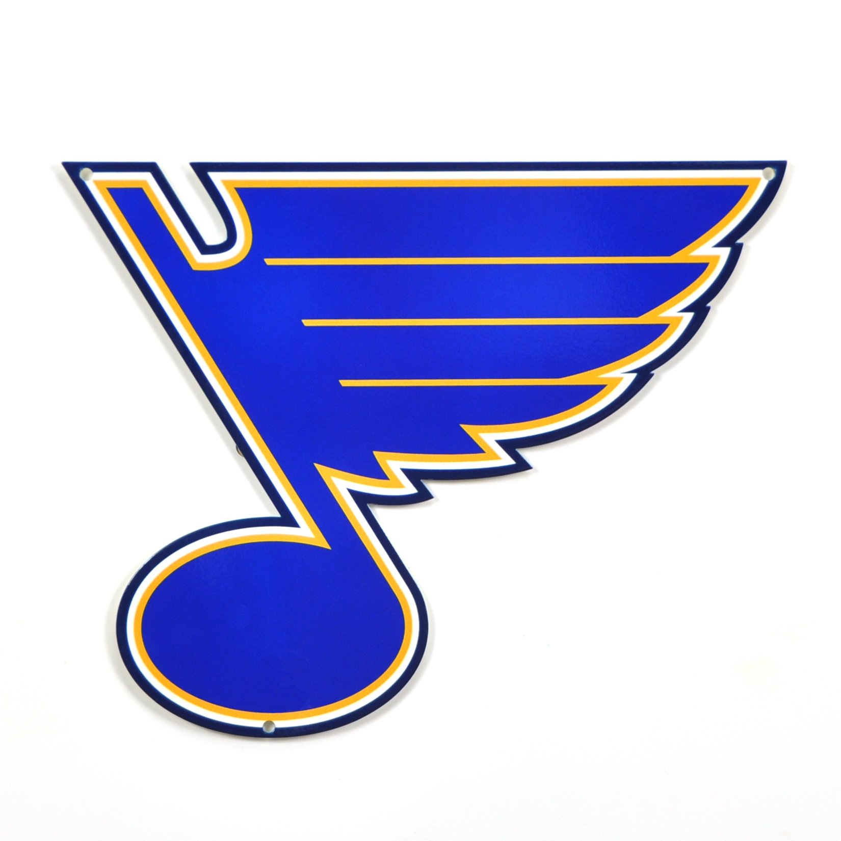 Authentic Street Signs NHL Hockey 12 Inch Steel Lasercut College Team Sports Sign for Dorm Rooms, Man Caves, Garages (St. Louis Blues Note, Around 12 Inches)