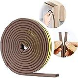VOLO Soundproofing, Dust Proof Door/Window Self Adhesive Door Seal Strip 6 Meters, D Seal (D Shape)_Brown