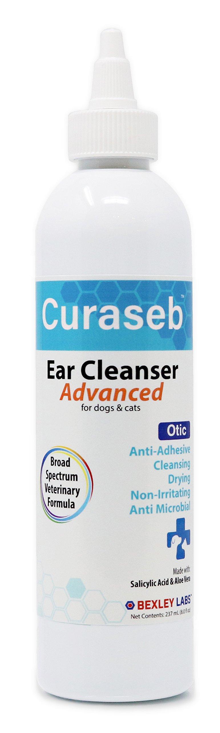 Bexley Labs Curaseb | #1 Vet Otic Advanced Dog & Cat Ear Cleaner, 8oz