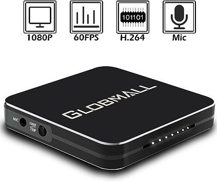 Globmall Full HD 1080P Capturadora de Video Grabadora de Juegos ...