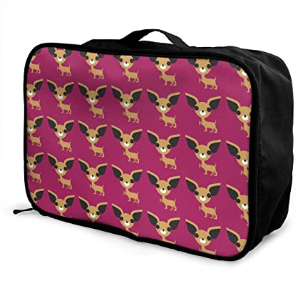 bc7e0e981a2a Image Unavailable. Image not available for. Color  YueLJB Cute Chihuahua Dog  Pattern Lightweight Large Capacity Portable Luggage Bag Travel Duffel ...