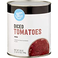 Amazon Brand- Happy Belly Diced Tomatoes in Tomato Juice, 28 Ounce