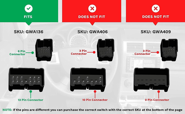 Gorgeri Interruptor de elevalunas el/éctrico del conductor de autom/óvil interruptor de elevalunas principal ABS para 2004-2009 93570-2F200