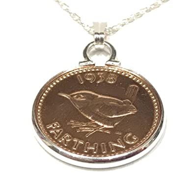 Cinch Pendant 1928 Lucky sixpence Silver Pendant for 90th Birthday plus a Sterling Silver 18in Chain EjESOH