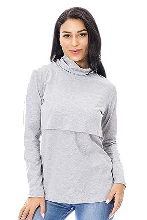 Hotsellhome Womens Ladies Mom Pregnant Nursing Baby Maternity Long Sleeved Tops Breastfeeding Hoodie Hooded Pullover Sweatshirts Blouse T Shirt Gift